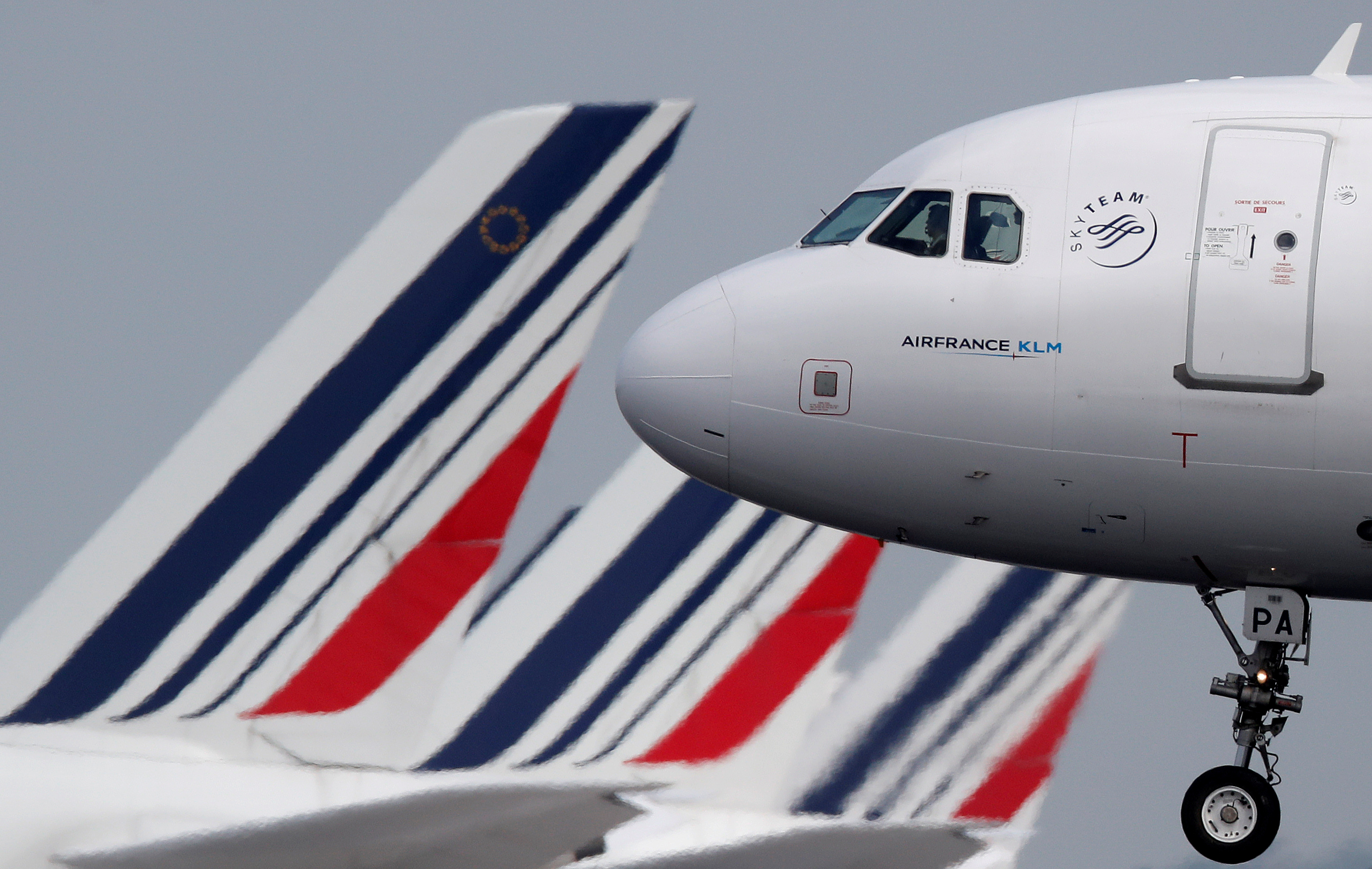 PORTE CLES  WELCOMES 787 VERT AIR FRANCE NEUF